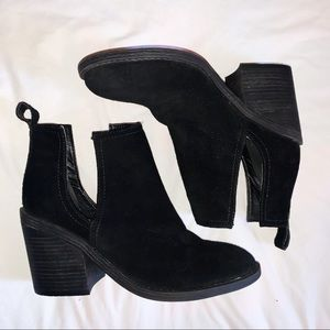 Steve Madden Suede Cut Out Ankle Boots